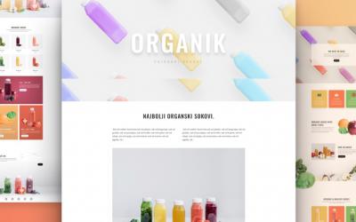 Izrada sajta za organik sokove